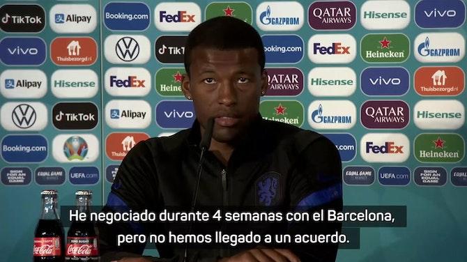 """Wijnaldum: """"Negocié con el Barcelona durante 4 semanas pero no llegamos a un acuerdo"""""""