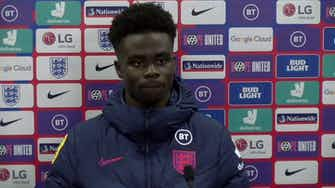 Preview image for Amazing feeling to score my first goal for England a dream come true! Bukayo Saka