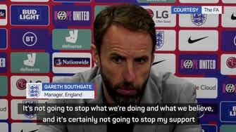 Preview image for Southgate unsurprised after England fans boo kneeling players again