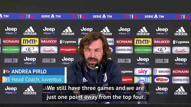 Preview image for Pirlo urges Juve players not to give up pursuit of top four spot