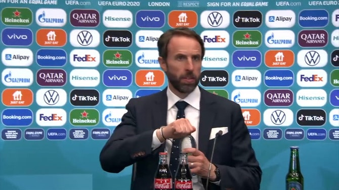 Preview image for The penalty was soft, I can understand that! Gareth Southgate ©️UEFA 2021