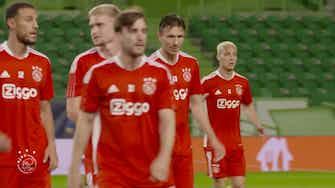 Vorschaubild für Ajax train in Lisbon, ahead of Champions League opener