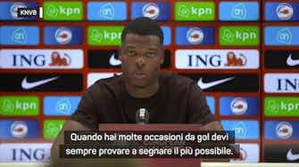 """Anteprima immagine per Dumfries convince con l'Olanda: """"Potevamo fare più gol"""""""