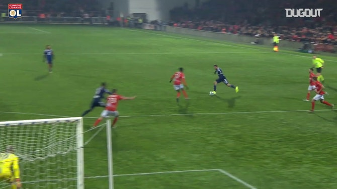 Preview image for Joachim Andersen's first OL goal vs Nîmes Olympique