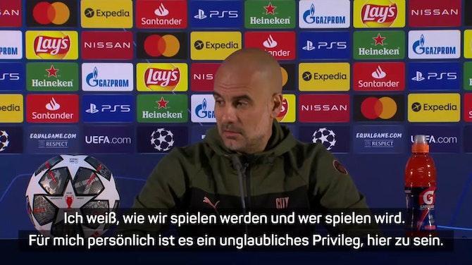 """Guardiola: """"Finale ist ein unglaubliches Privileg"""""""
