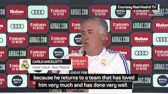 Preview image for Ronaldo is back at the club that loves him - Ancelotti
