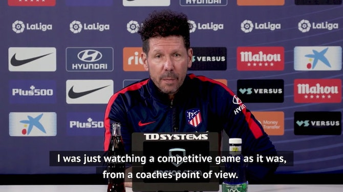Preview image for Did Simeone celebrate Barcelona's shock defeat?