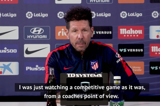 Did Simeone celebrate Barcelona's shock defeat?
