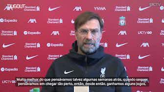 Imagem de visualização para Klopp projeta Liverpool no G4 do Inglês e não vê Salah desmotivado