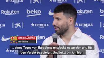 """Vorschaubild für Aguero: """"Denke, dass Messi bei Barca bleibt"""""""