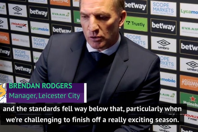 Rodgers confirms COVID breach ahead of Leicester's defeat at West Ham