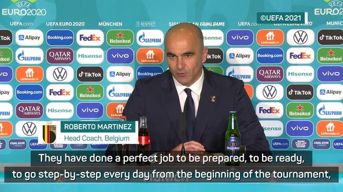 Preview image for Martinez disappointed but proud of Belgium's efforts at Euro 2020