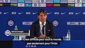 """Image d'aperçu pour Inter - Inzaghi : """"L'Inter sera compétitif sur le marché des transferts"""""""