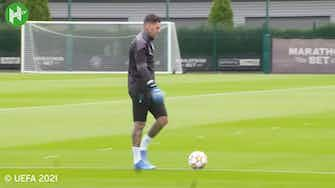 Preview image for Man City's last training ahead of RB Leipzig clash