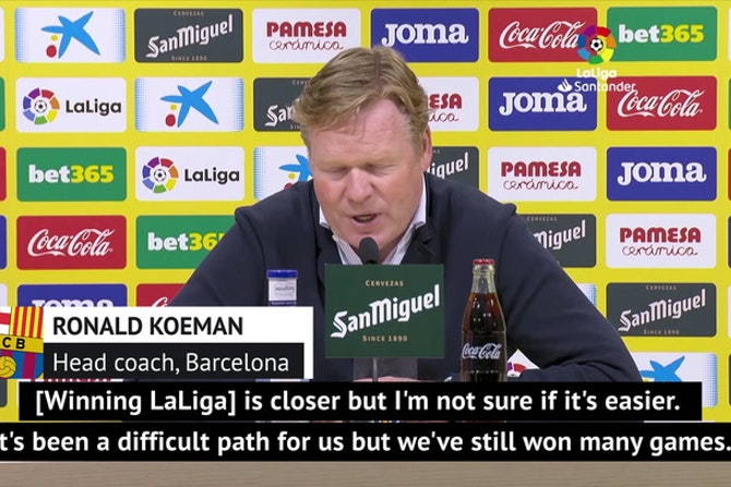 Koeman eyeing LaLiga title for Barca after Atletico slip-up