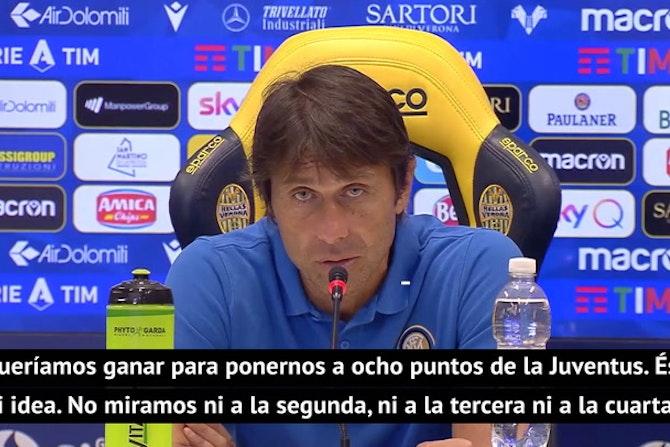 """Conte no tira la toalla: """"Queríamos ponernos a ocho de la Juventus"""""""