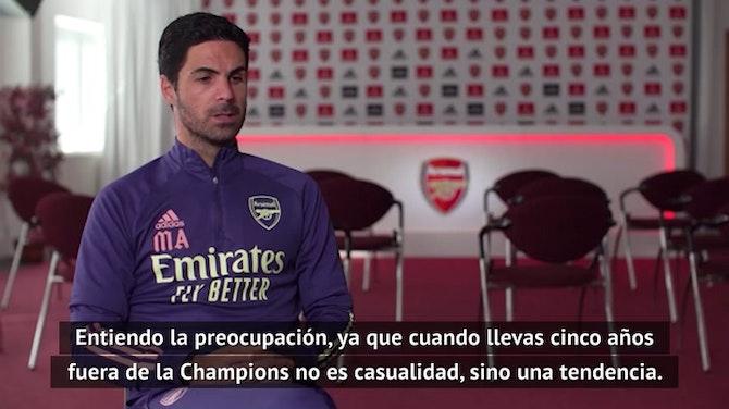 """Imagen de vista previa para Arteta: """"Ni el club, ni yo, ni la afición vamos a aceptar esto"""""""