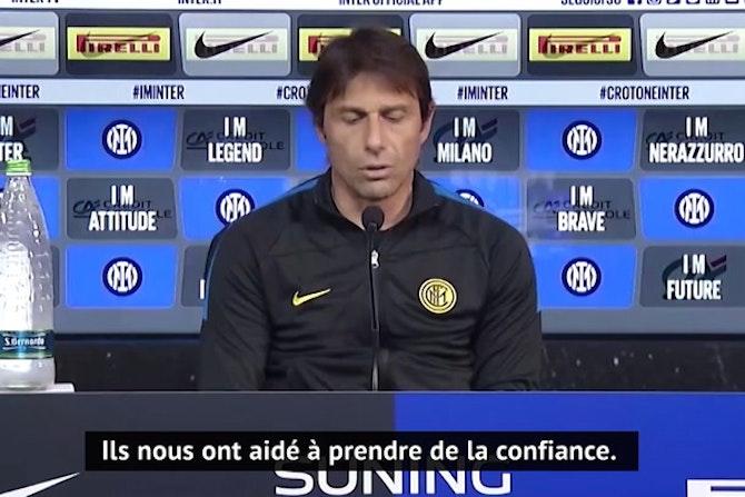 34e j. - Conte explique comment l'Inter est resté maître de son destin
