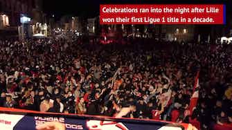 Preview image for Fireworks, flares and fanfare as Lille celebrate title triumph