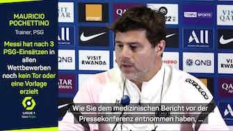 """Vorschaubild für Pochettino über Messi: """"Hoffen auf City-Einsatz"""""""