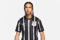 Vaza possível camisa II do Corinthians para temporada 2021/2022