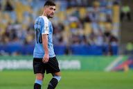 Recuperado da Covid, Arrascaeta manda recado em treinamento da Seleção Uruguaia