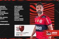 Flamengo divulga relacionados para jogo contra o Corinthians