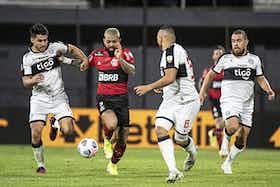 Imagem do artigo: https://image-service.onefootball.com/crop/face?h=810&image=https%3A%2F%2Fcolunadofla.com%2Fwp-content%2Fuploads%2F2021%2F08%2Fgabigol-olimpia-x-flamengo-libertadores.jpg&q=25&w=1080