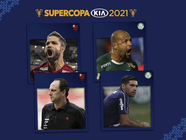 Supercopa Kia 2021: capitães e técnicos de Flamengo e Palmeiras participam de coletiva pré-jogo