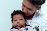 Dias das Mães: Camila, mãe do Théo e goleira do Santos