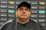 Guto Ferreira fala sobre momento de Vina e comenta sobre o empate com a Chapecoense: 'Faltou sorte'