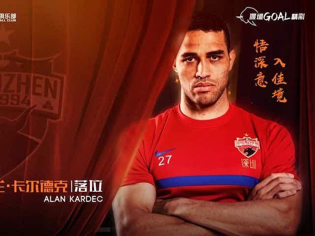 Alan Kardec é anunciado como novo reforço do Shenzen FC da China