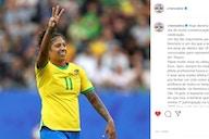 Em post no Instagram, Cristiane lamenta a ausência nas olimpíadas