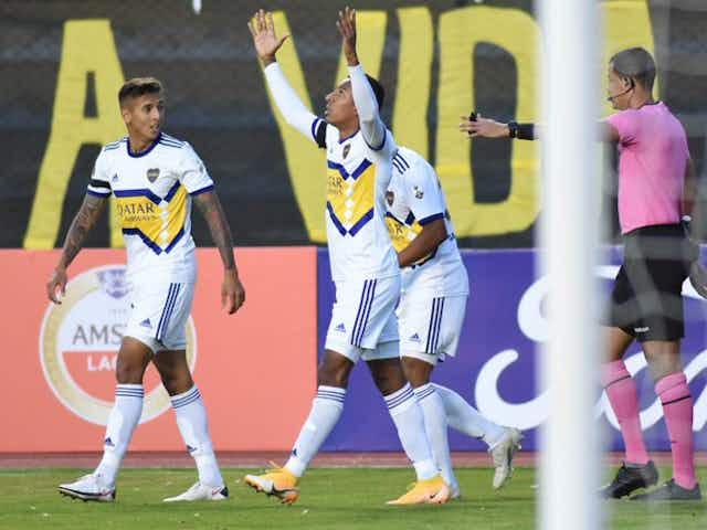 Histórica victoria de Boca, con gol colombiano