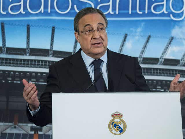 """Florentino Pérez: """"Real Madrid will not be kicked out of the Champions League."""""""