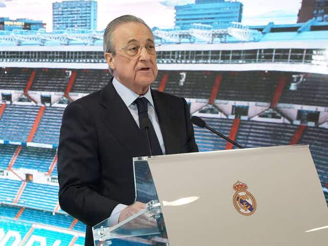 "Florentino Pérez: ""Our responsibility as big clubs is to respond to the wishes of the fans."""