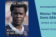 Marius Trésor en dédicaces pour sa biographie au Cultura de Bègles ce matin
