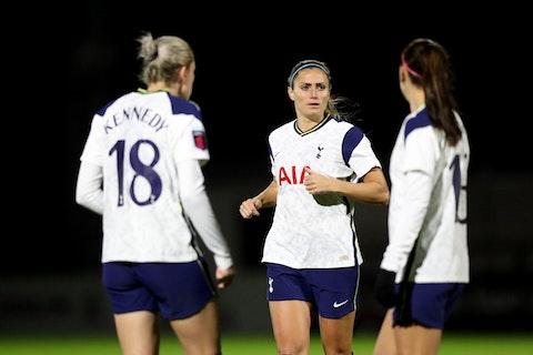 Article image: https://image-service.onefootball.com/crop/face?h=810&image=https%3A%2F%2Fi0.wp.com%2Fherfootballhub.com%2Fwp-content%2Fuploads%2F2021%2F02%2Farsenal-v-tottenham-hotspur-fa-womens-continental-league-cup-scaled.jpg%3Ffit%3D2560%252C1707%26ssl%3D1&q=25&w=1080