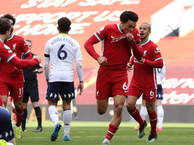 A redenção de Alexander-Arnold: com belo gol, arrancou a virada sobre o Aston Villa