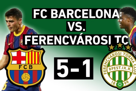 Barcelona Vs Ferencvaros 5 1 Everybody Scores And Pique Red Card Champions League Match Review Onefootball