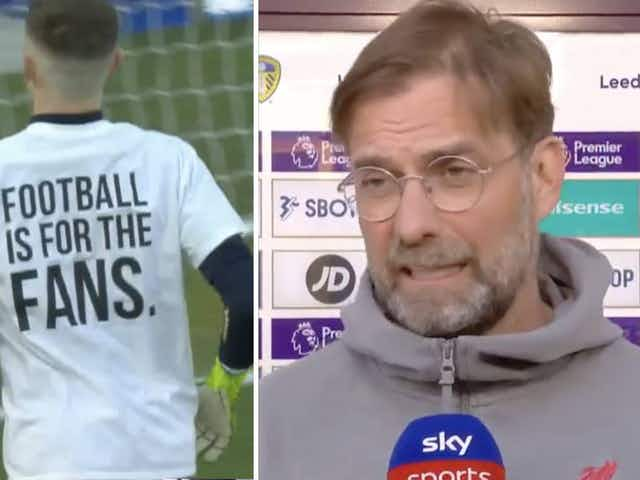(Photo) Leeds send powerful message with warm-up shirts, Klopp confirms Liverpool declined wearing them