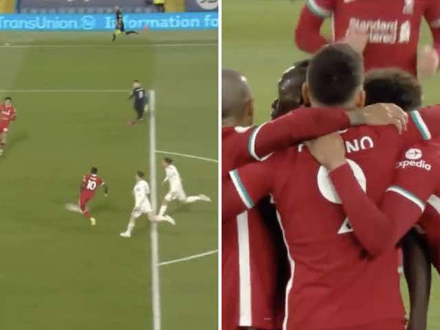 Video: Liverpool star Mane nets his first Premier League goal since January after fine work from Trent