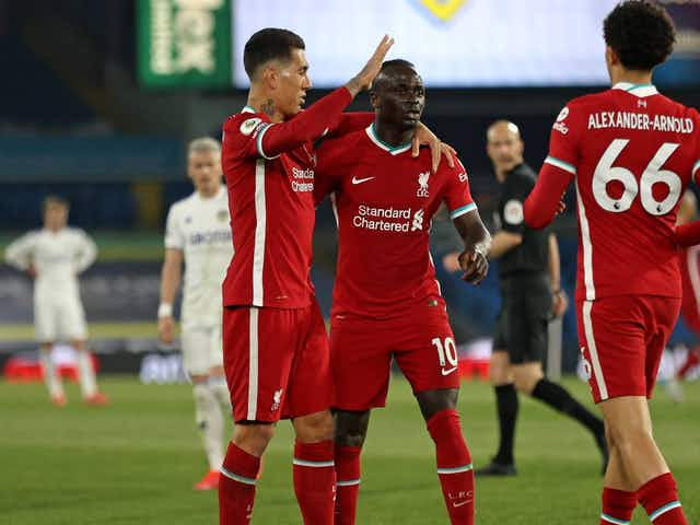 Sadio Mane goal takes Liverpool front three to impressive milestone on inconsequential evening