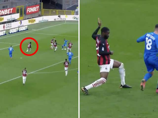Video: Chelsea loanee Fikayo Tomori costs AC Milan two goals in potentially pivotal defeat to Sassuolo