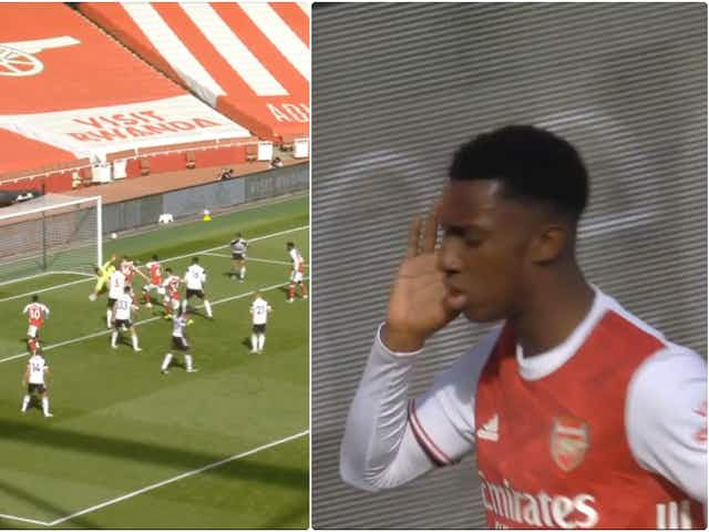 Video: Eddie Nketiah pounces to answer the Arsenal call with last-minute equaliser off the bench against Fulham