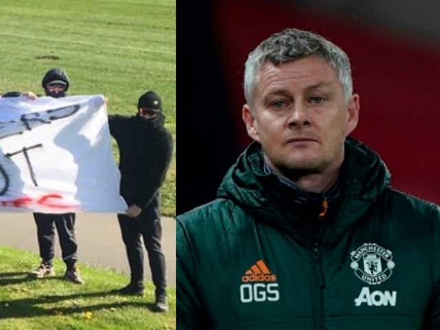 Solskjaer & players diffuse Man Utd fans' 'Glazers out' protest at Carrington