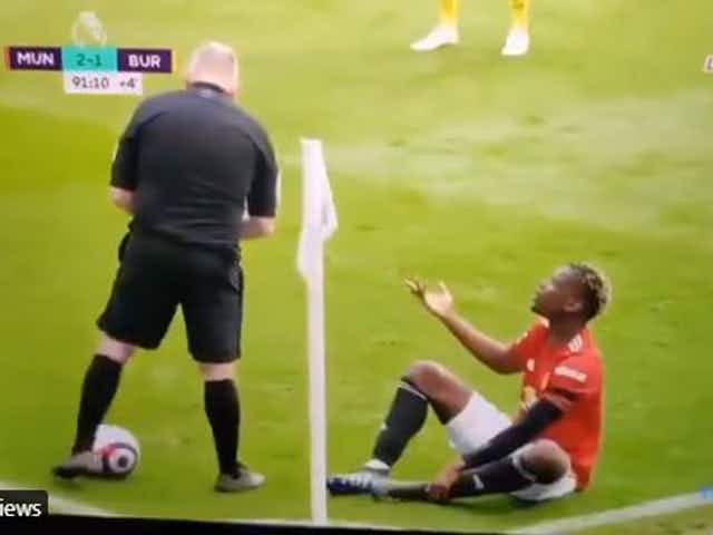 """Video: Man United star Pogba gets fouled, ref tells him """"don't take the p***!"""""""