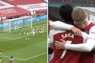 Video: Smith Rowe fires home after brilliant cross from Saka as youngsters combine for a goal made in Arsenal