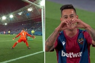 Video: Sergio Leon strikes late to deal considerable blow to Barcelona's title hopes by drawing Levante level