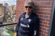 Photo: Jon Bon Jovi appears to announce himself as a Leeds United fan as he's pictured in club colours